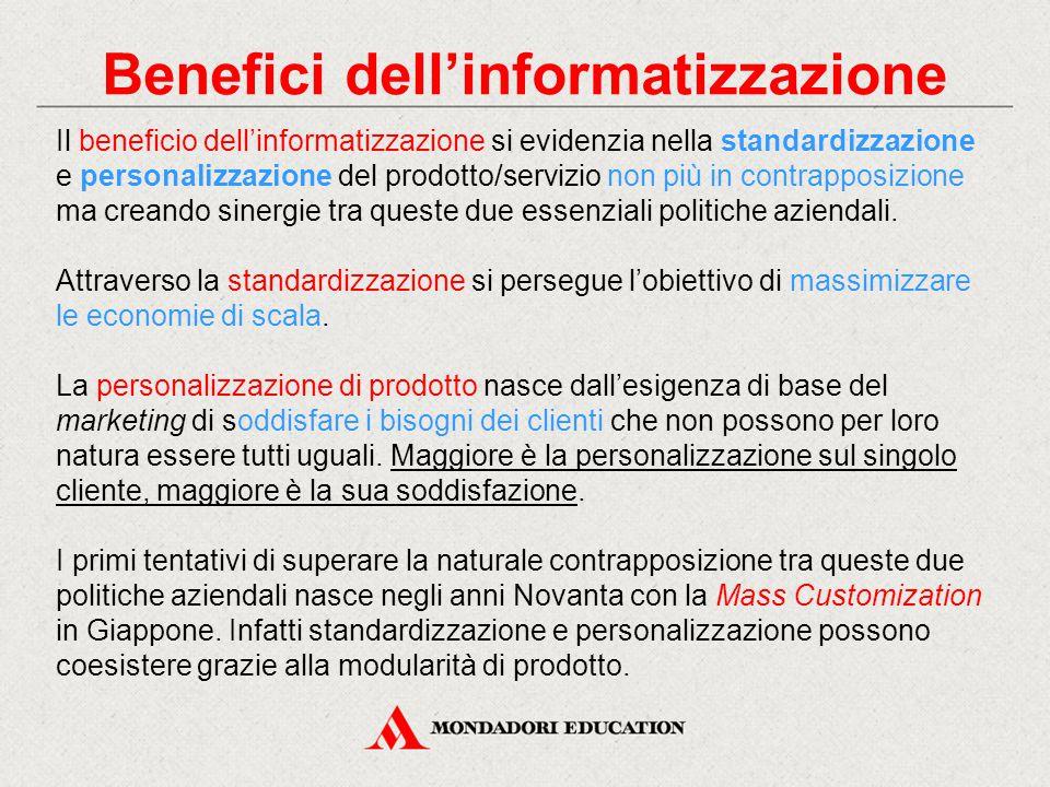 Benefici dell'informatizzazione