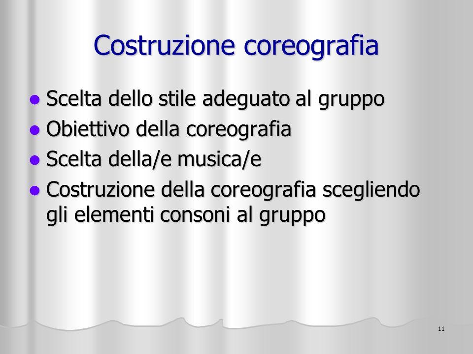 Costruzione coreografia