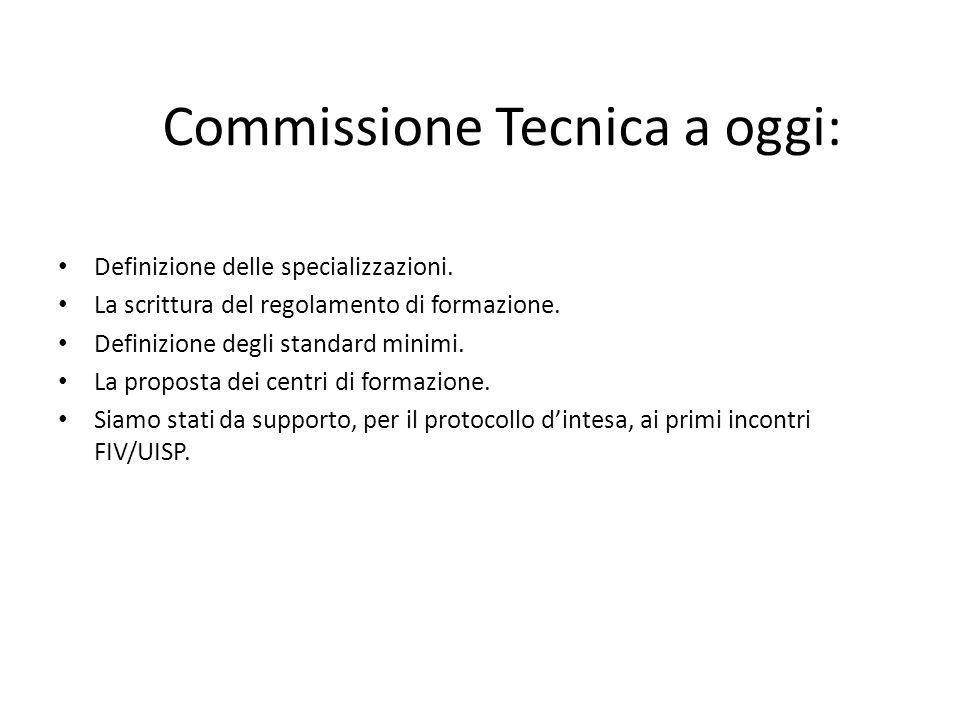 Commissione Tecnica a oggi: