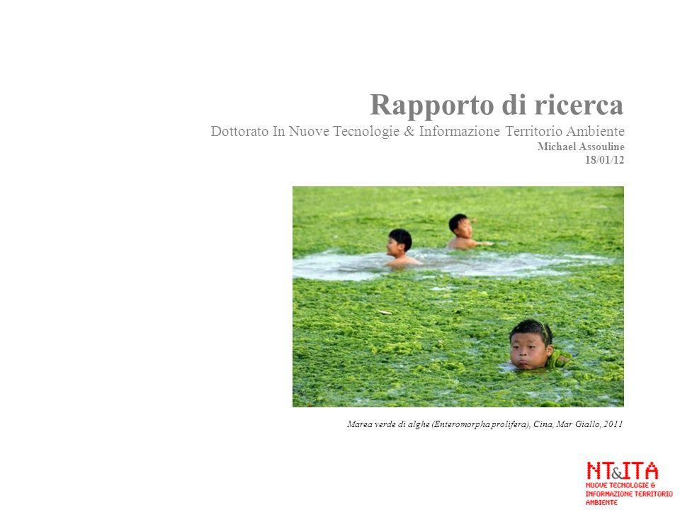 Rapporto di ricerca Dottorato In Nuove Tecnologie & Informazione Territorio Ambiente Michael Assouline 18/01/12