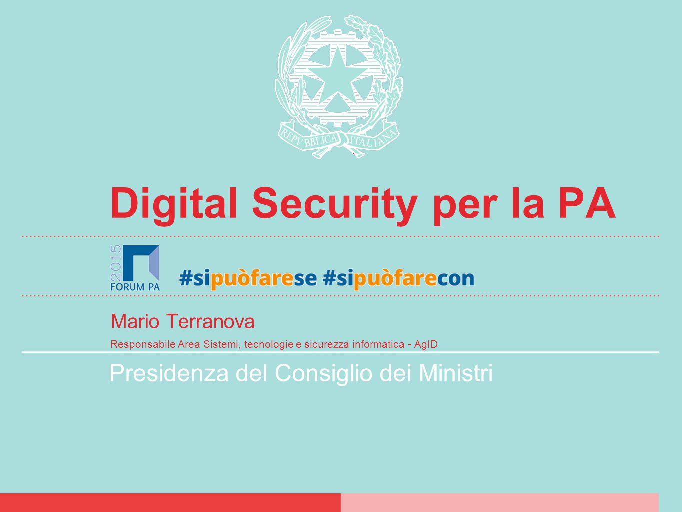 Sommario Le nuove minacce. Organizzazione cybersec nazionale.