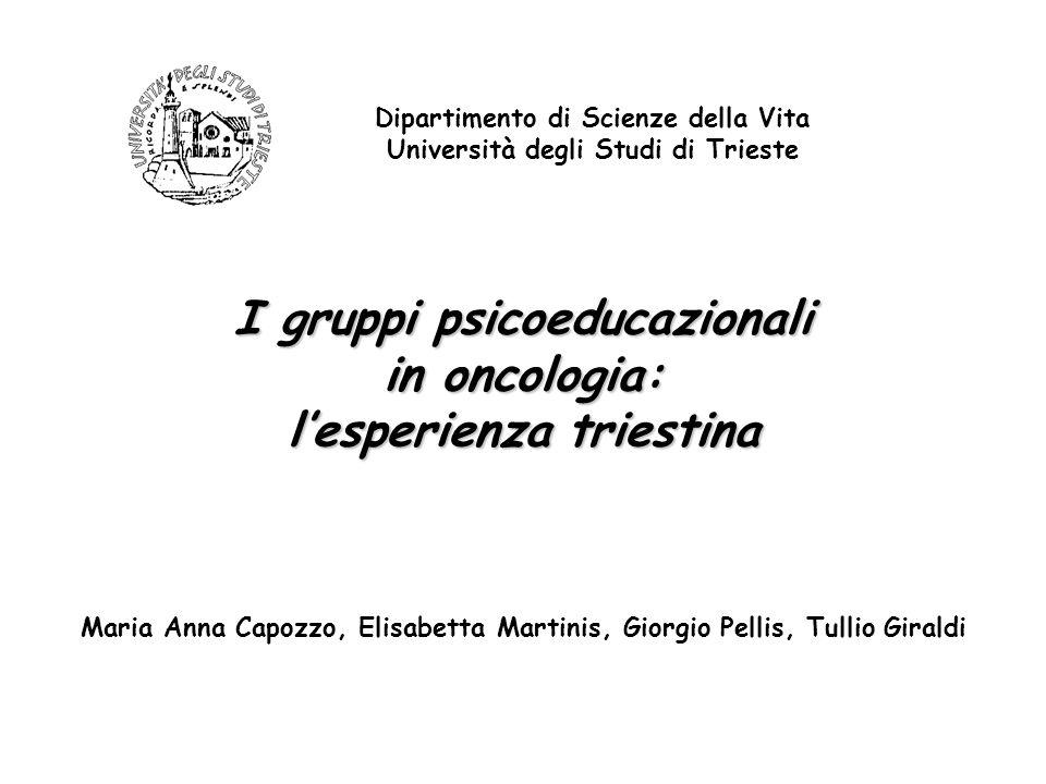 I gruppi psicoeducazionali in oncologia: l'esperienza triestina