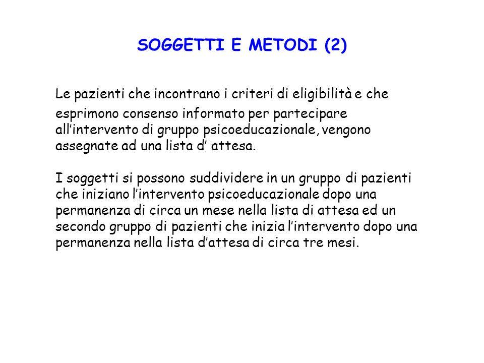 SOGGETTI E METODI (2)