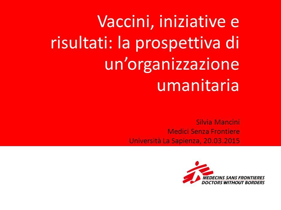 Vaccini, iniziative e risultati: la prospettiva di un'organizzazione umanitaria