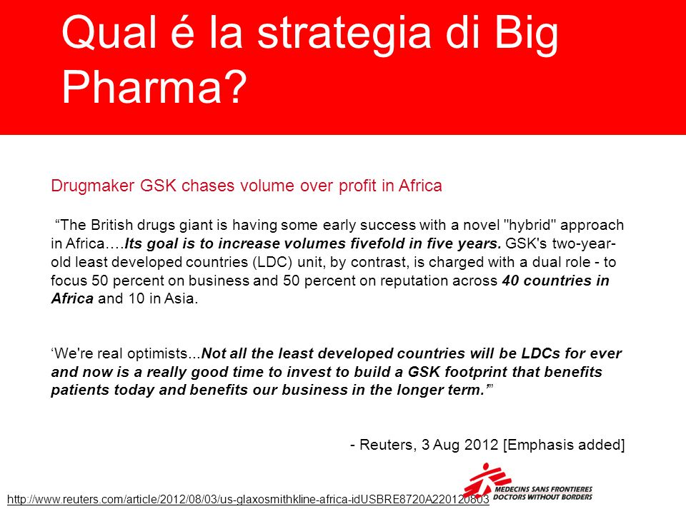 Qual é la strategia di Big Pharma