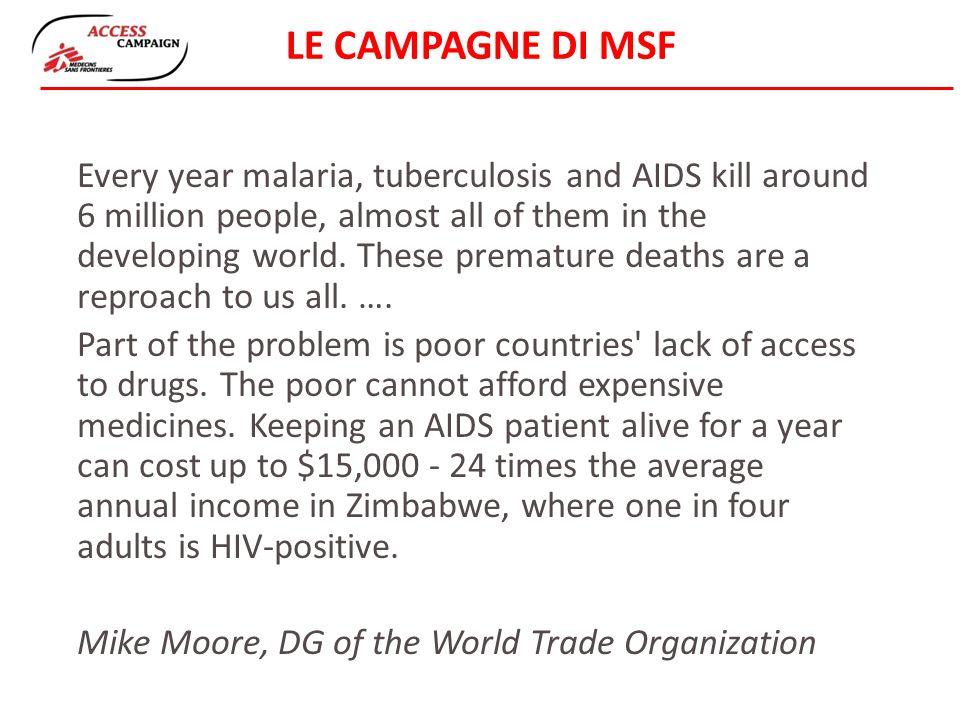 LE CAMPAGNE DI MSF