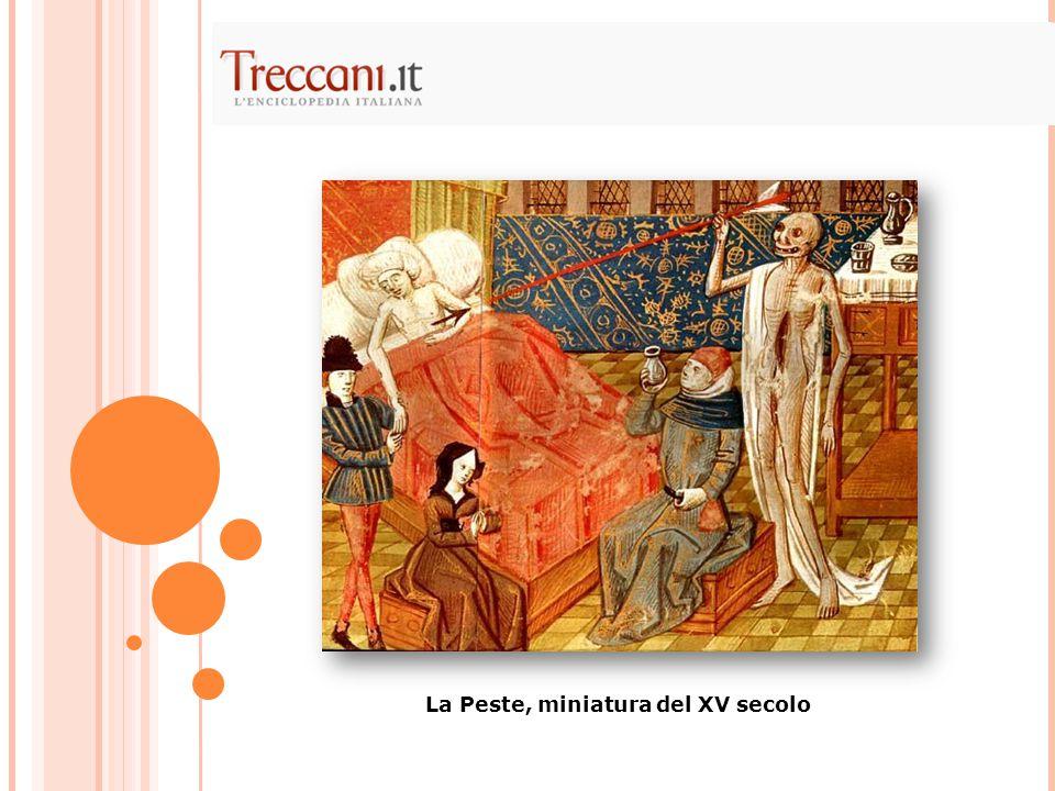 La Peste, miniatura del XV secolo