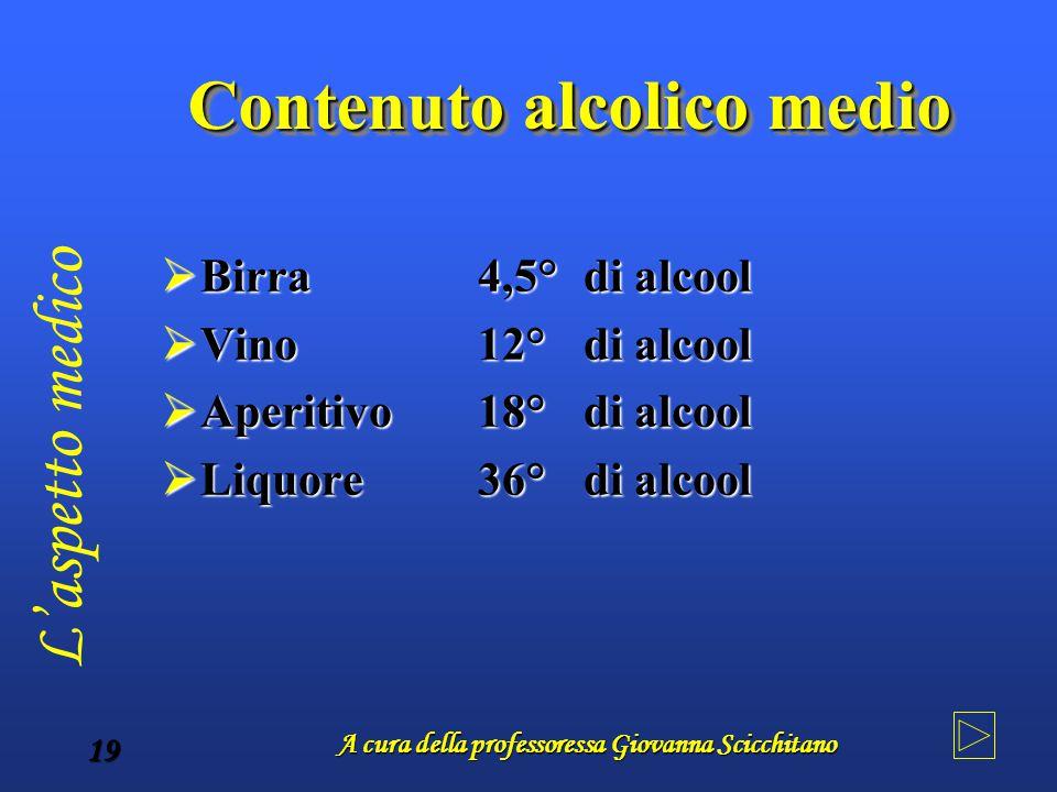 Contenuto alcolico medio