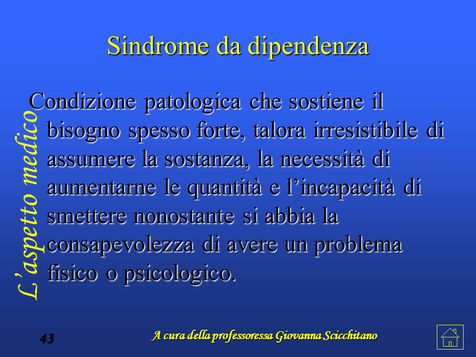 Sindrome da dipendenza