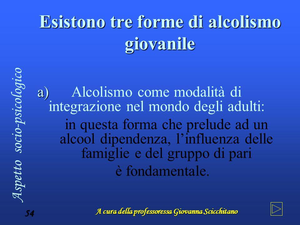 Esistono tre forme di alcolismo giovanile