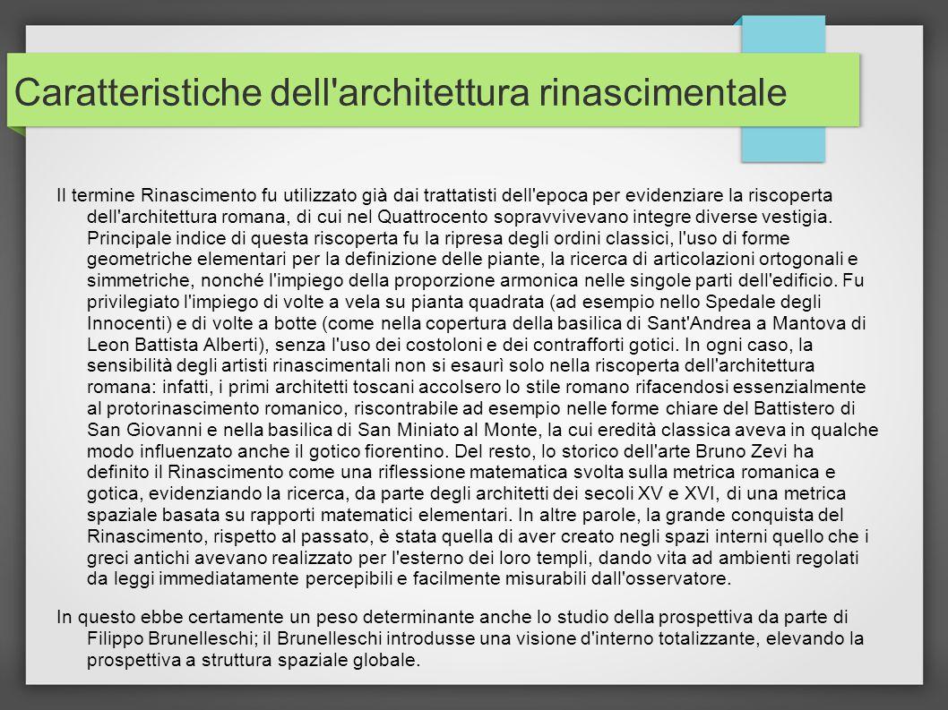 Architettura rinascimentale ppt video online scaricare for Caratteristiche dell architettura in stile mediterraneo