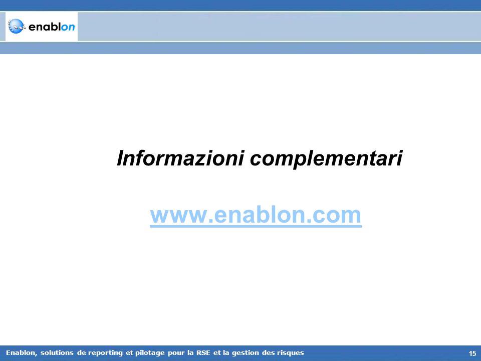 Informazioni complementari