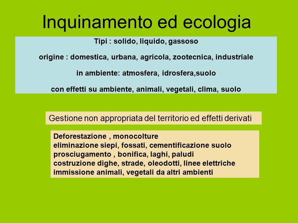Inquinamento ed ecologia