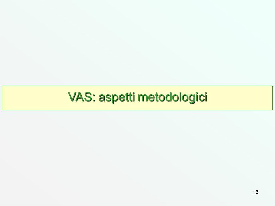 VAS: aspetti metodologici