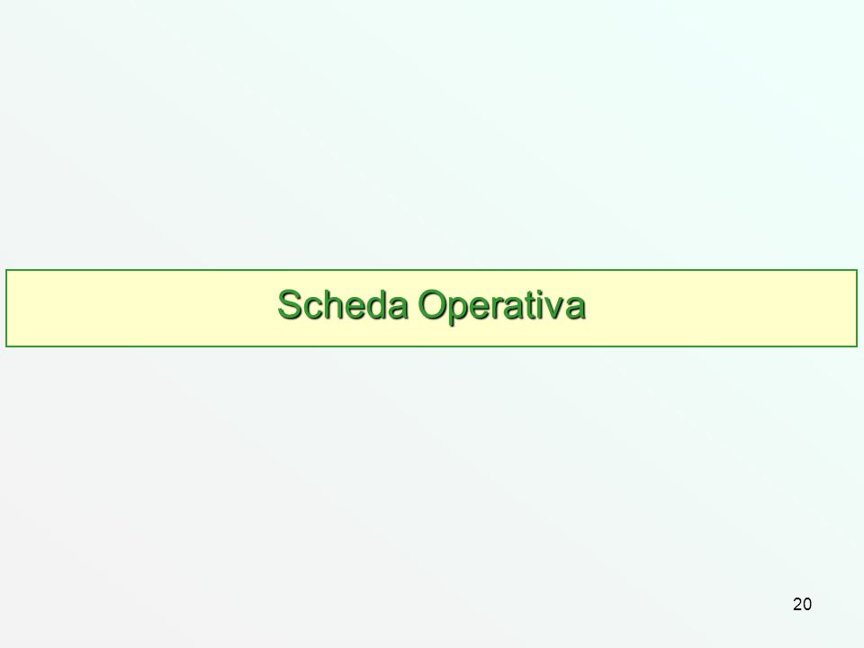 Scheda Operativa