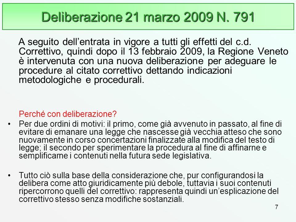 Deliberazione 21 marzo 2009 N. 791