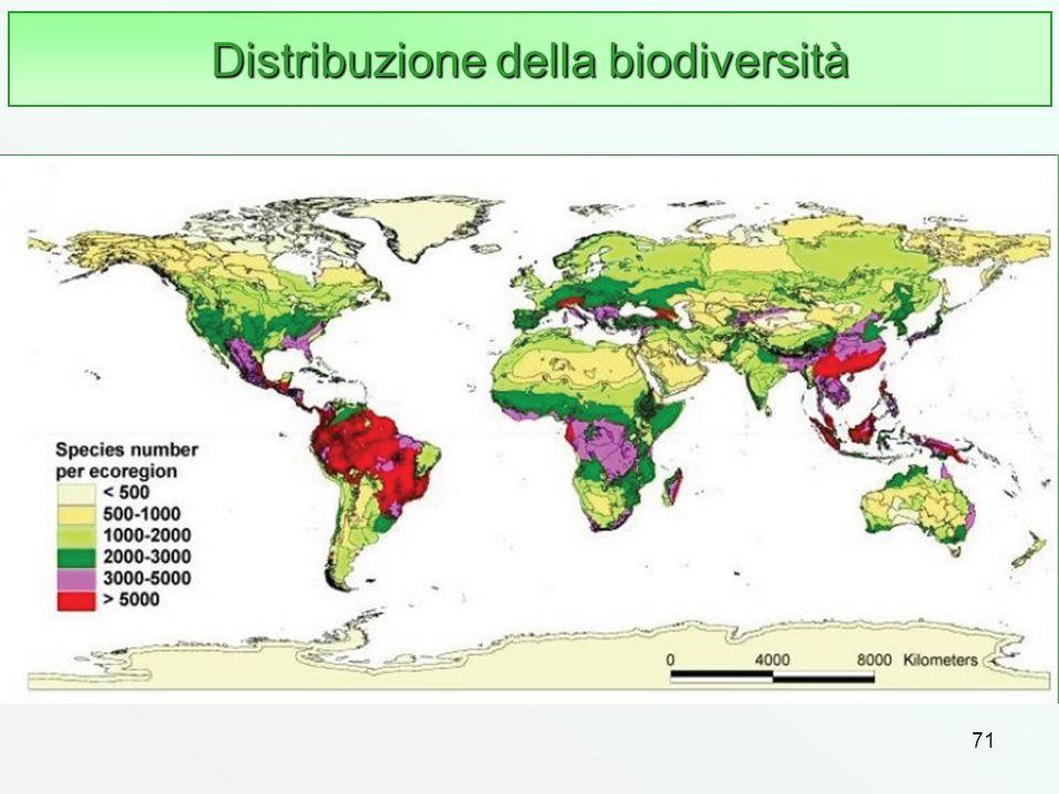 Distribuzione della biodiversità