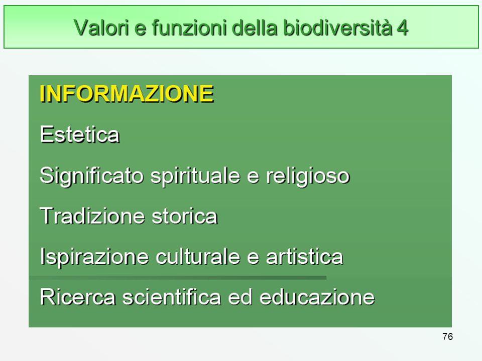 Valori e funzioni della biodiversità 4
