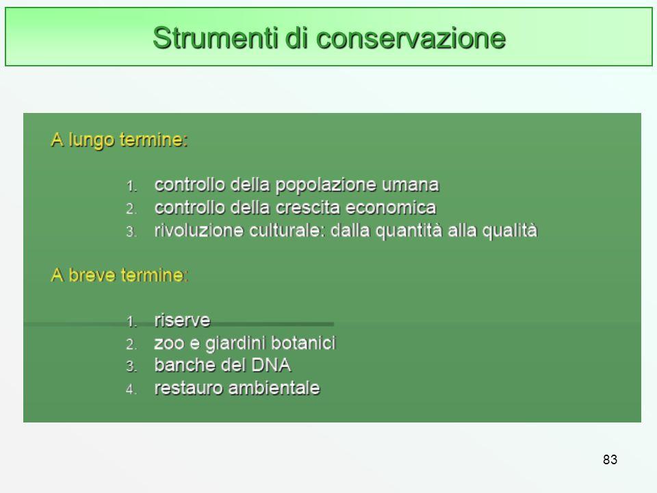 Strumenti di conservazione