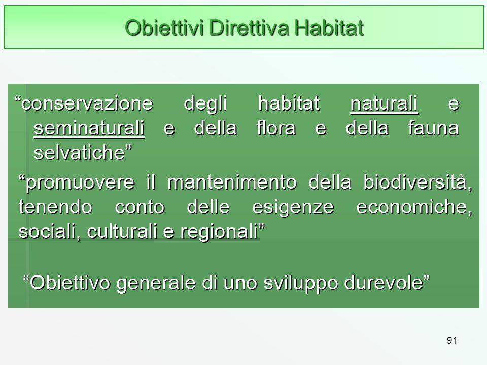 Obiettivi Direttiva Habitat
