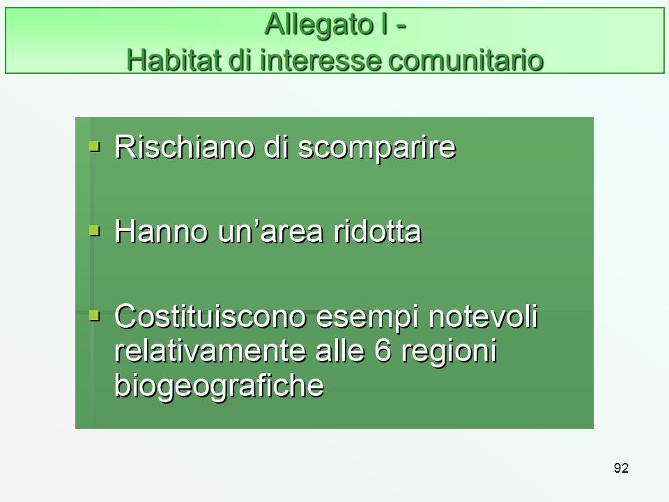 Allegato I - Habitat di interesse comunitario