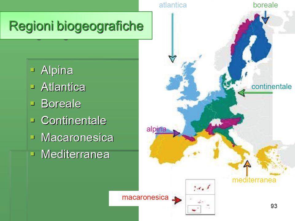 Regioni biogeografiche