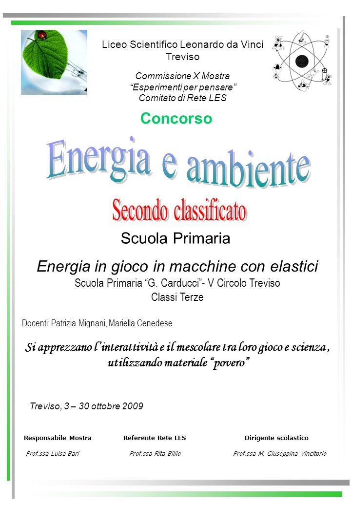 Energia e ambiente Secondo classificato Concorso Scuola Primaria