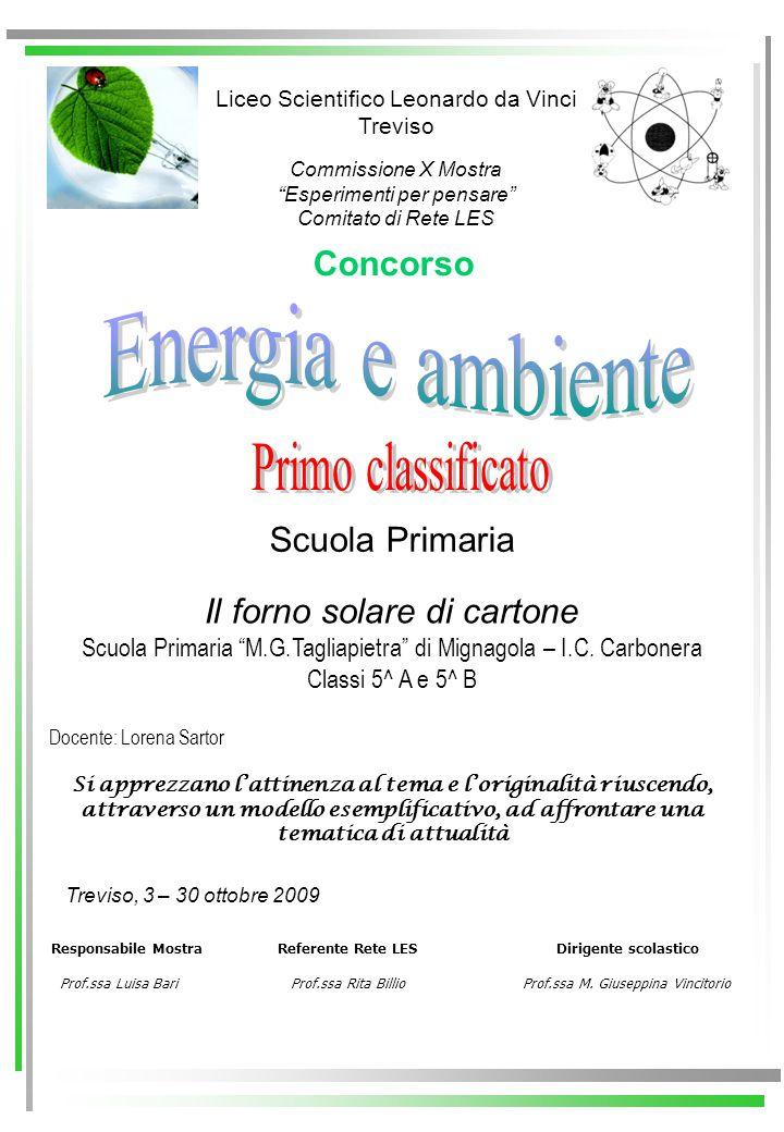 Energia e ambiente Primo classificato Concorso Scuola Primaria