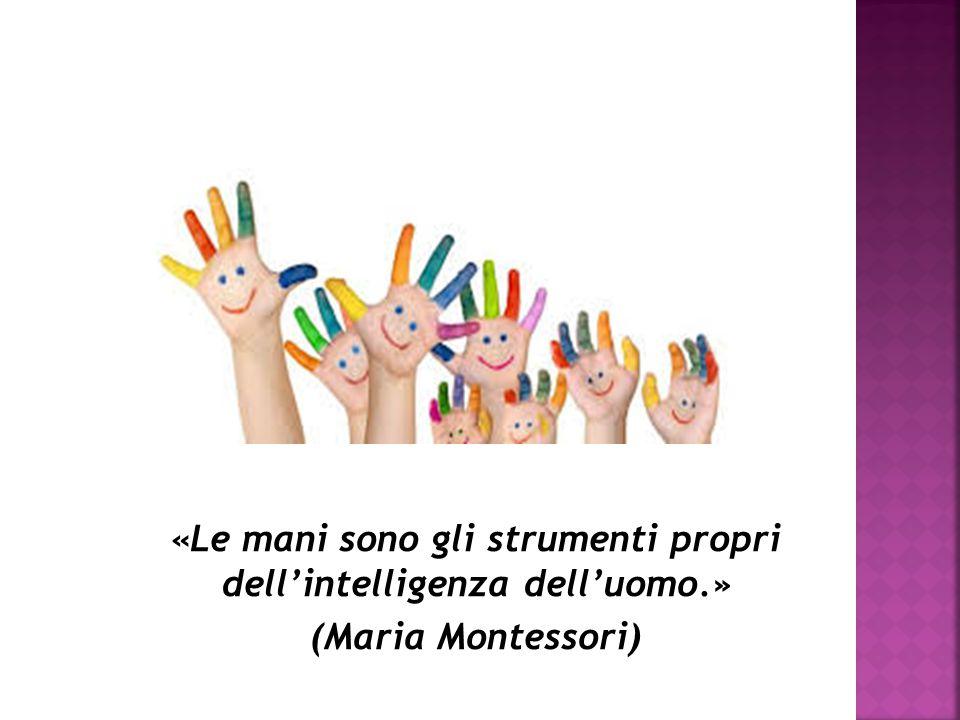 «Le mani sono gli strumenti propri dell'intelligenza dell'uomo.»