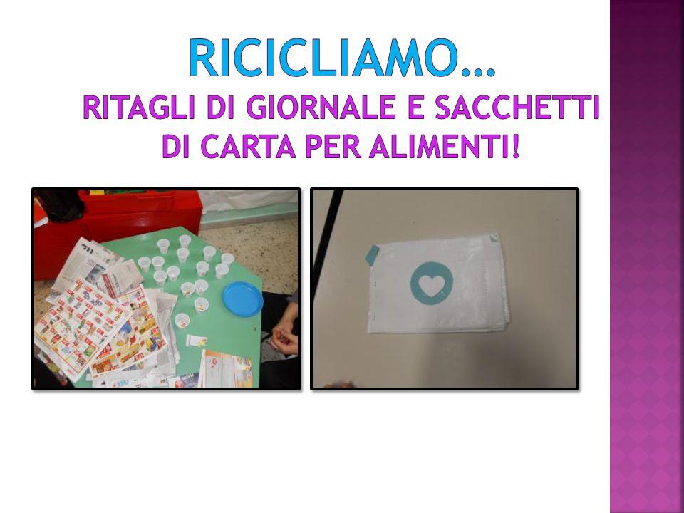 RICICLIAMO… Ritagli di giornale e sacchetti di carta per alimenti!