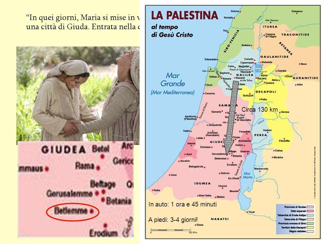 In quei giorni, Maria si mise in viaggio verso la montagna, e raggiunse in fretta una città di Giuda. Entrata nella casa di Zaccaria, salutò Elisabetta. (Lc 3,39)