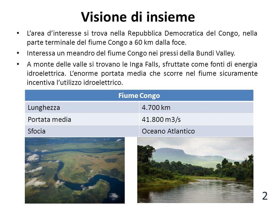 Visione di insieme L'area d'interesse si trova nella Repubblica Democratica del Congo, nella parte terminale del fiume Congo a 60 km dalla foce.