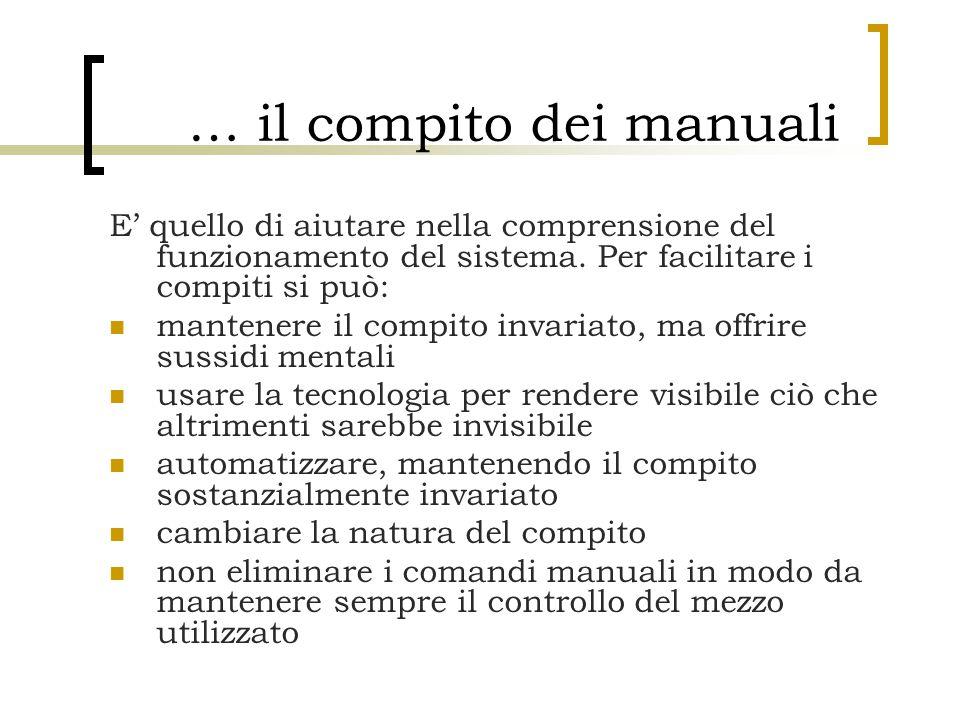 … il compito dei manuali