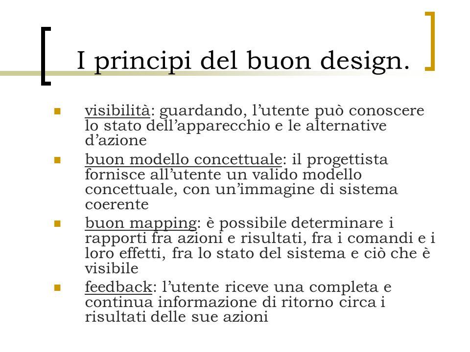I principi del buon design.