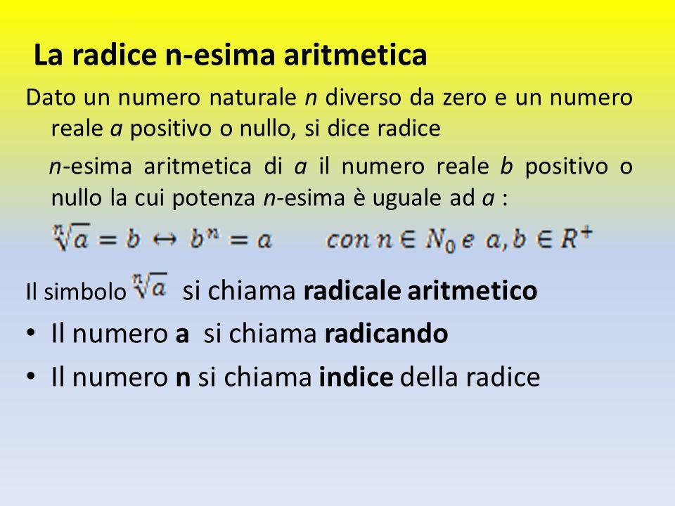 La radice n-esima aritmetica