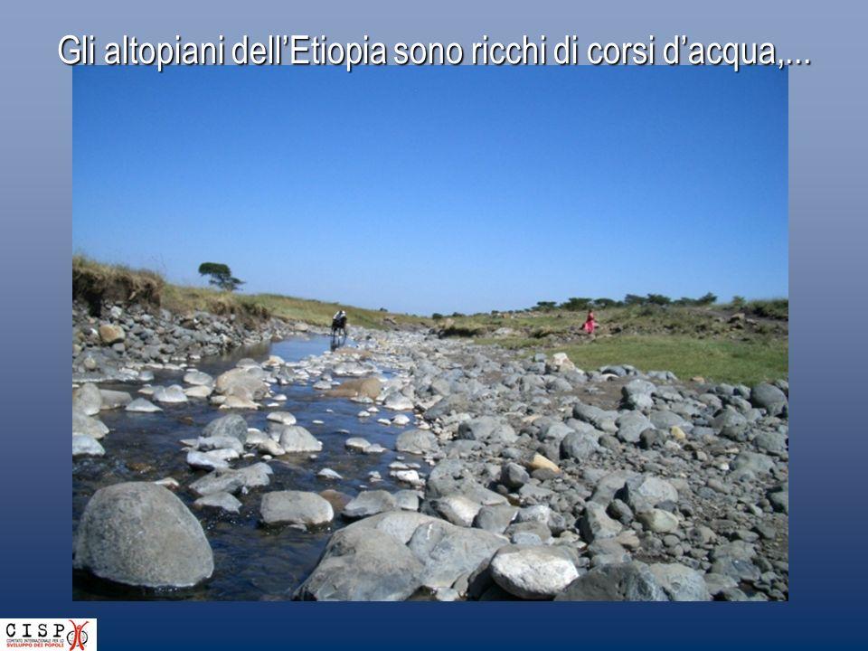 Gli altopiani dell'Etiopia sono ricchi di corsi d'acqua,...