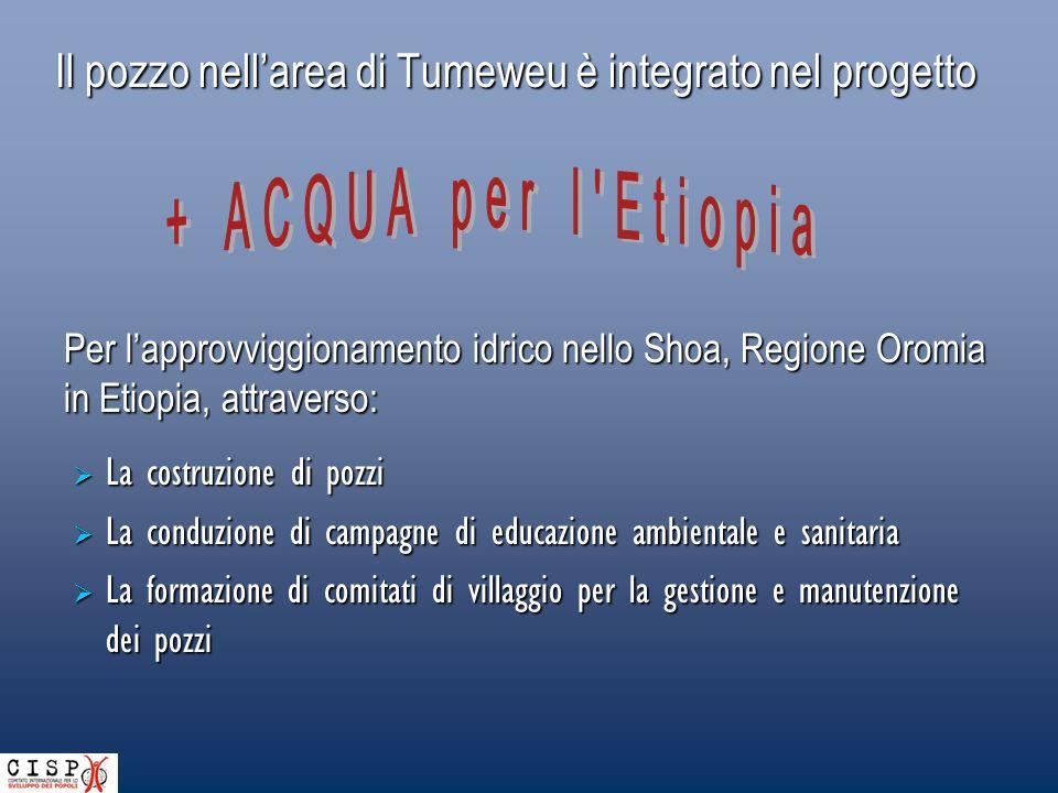 Il pozzo nell'area di Tumeweu è integrato nel progetto
