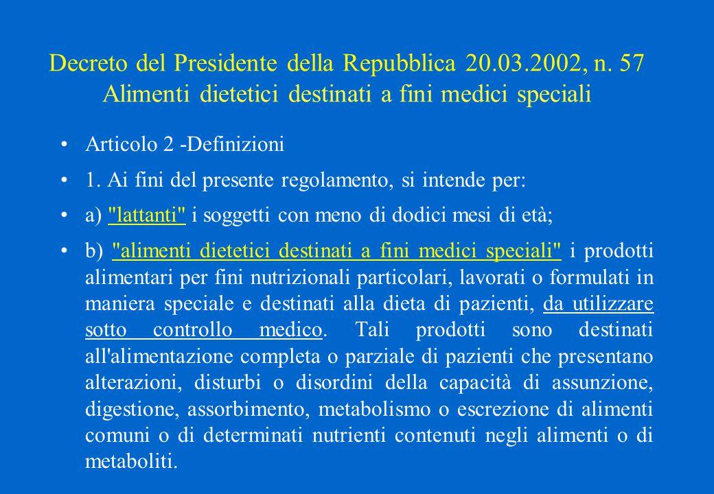 Decreto del Presidente della Repubblica 20. 03. 2002, n