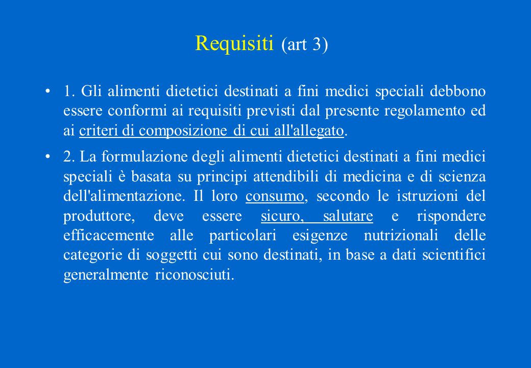 Requisiti (art 3)