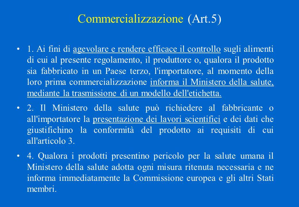 Commercializzazione (Art.5)