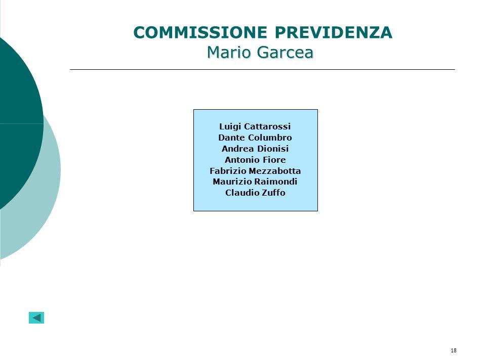 COMMISSIONE PREVIDENZA Mario Garcea