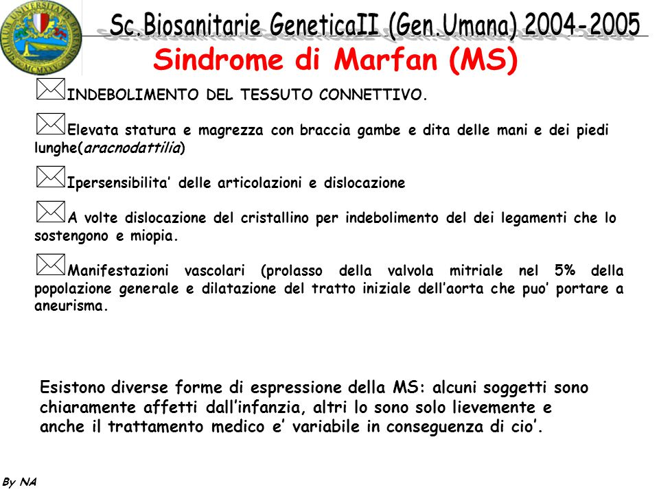 Sindrome di Marfan (MS)