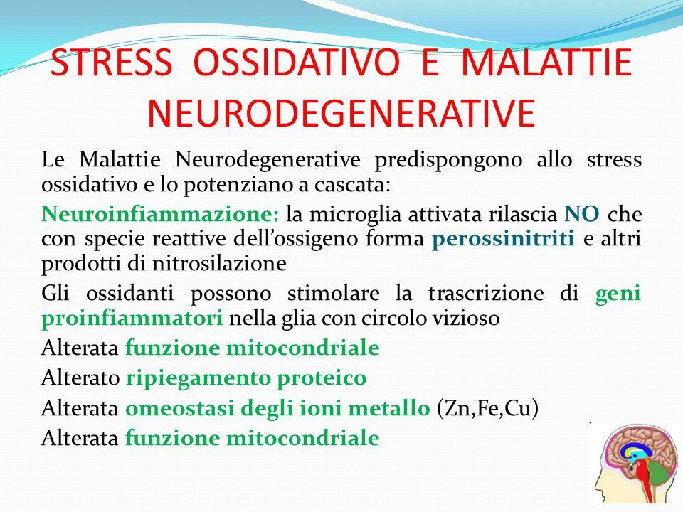 STRESS OSSIDATIVO E MALATTIE NEURODEGENERATIVE