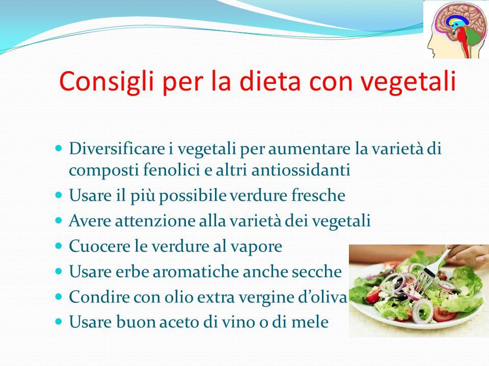 Consigli per la dieta con vegetali