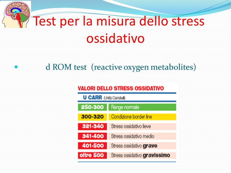 Test per la misura dello stress ossidativo