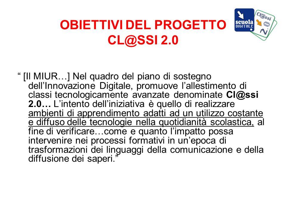 OBIETTIVI DEL PROGETTO CL@SSI 2.0