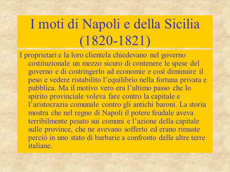I moti di Napoli e della Sicilia (1820-1821)