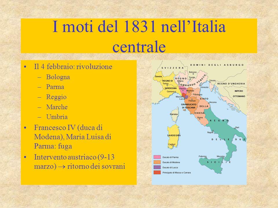 I moti del 1831 nell'Italia centrale