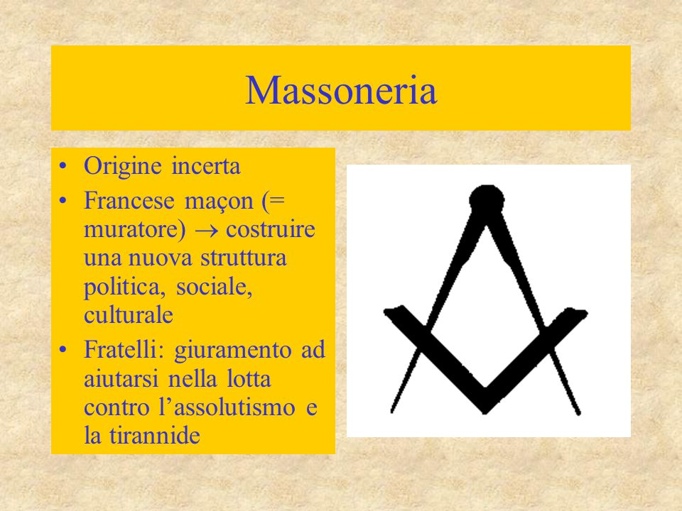 Massoneria Origine incerta