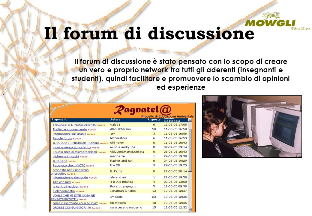 Il forum di discussione